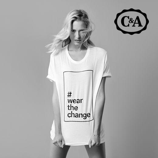 """L'enseigne C&A lance la campagne """"#wearthechange"""" pour faire connaître ses engagements en matière de mode durable."""
