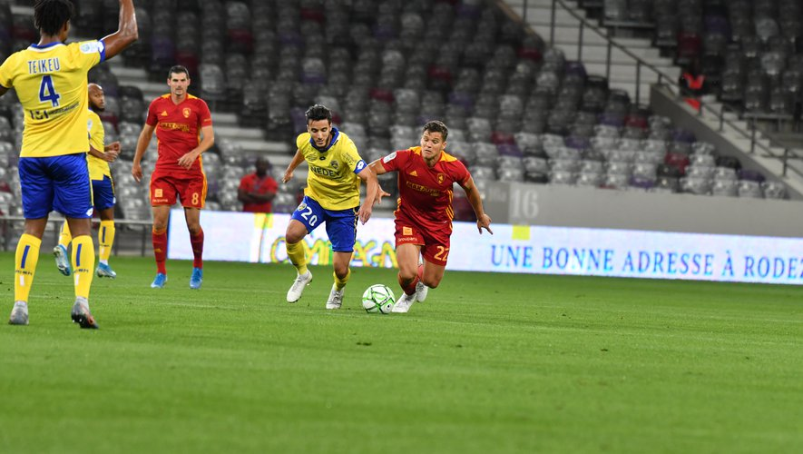 David Douline et ses coéquipiers dans le dur ce vendredi soir contre Sochaux.