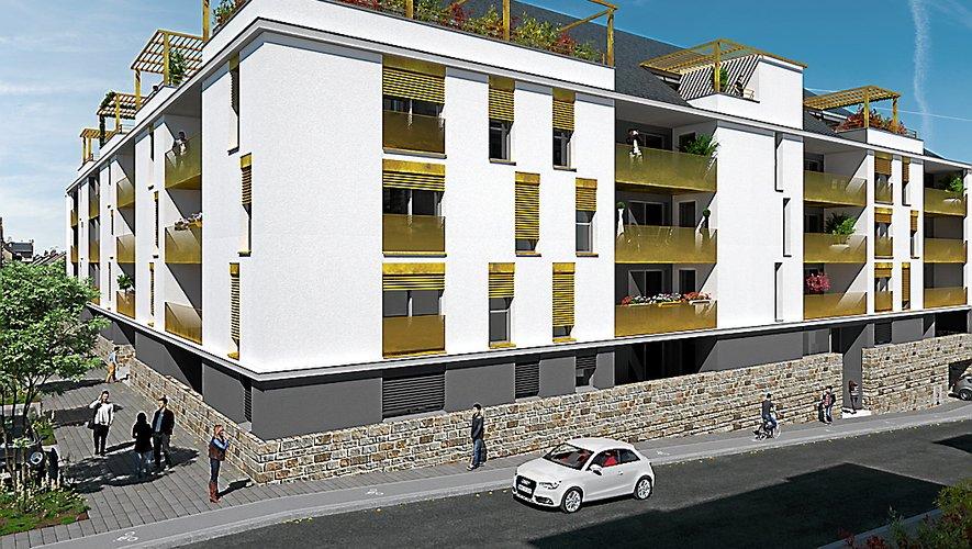 Le visuel de la nouvelle résidence « Signature », signée de l'architecte Cédric Lacombe, située à l'angle des rues Eugène-Loup et Jean-Ferrieu.