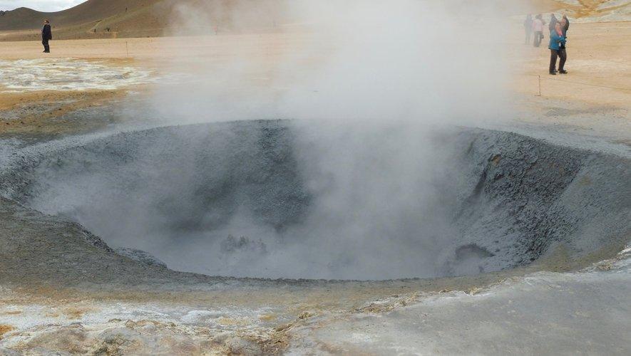 Les sources chaudes en Islande.