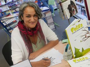Léticia Rose a présentéson livre à l'espace culturel.