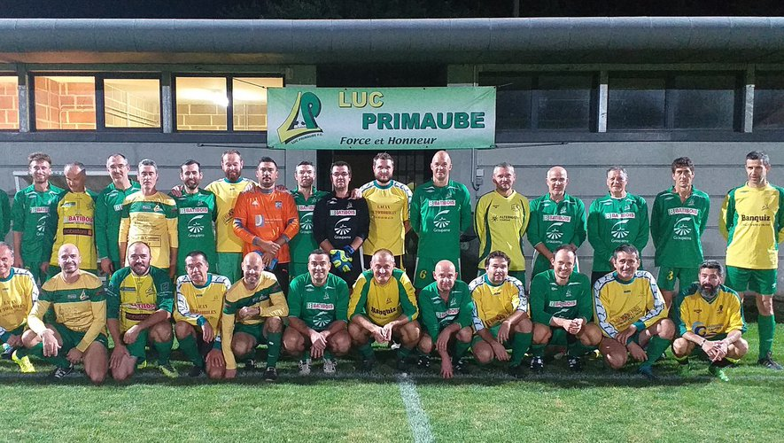 Les deux équipes vétérans de Luc et La Primaube réunies pour l'ouverture de la saison.