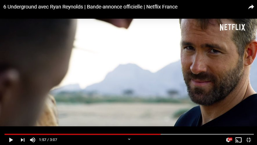 "Ryan Reynolds dans la bande-annonce de ""6 Underground""."