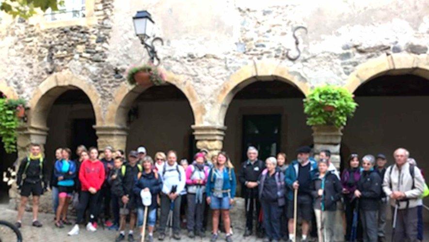 Le groupe de marcheurs de la Balades d'Olt à l'Aubrac.