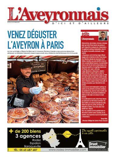 Vendredi 5 octobre 2018 : première Une de l'Aveyronnais, en version numérique.