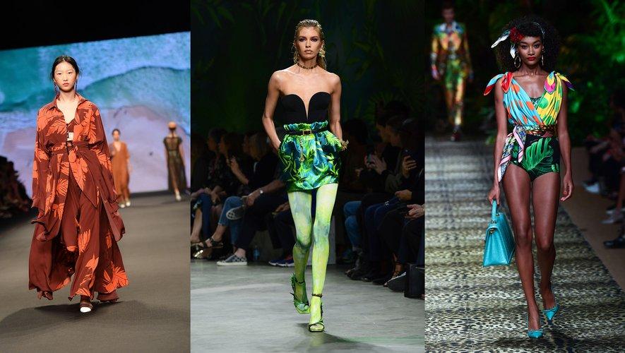 Silhouette urban jungle, par Anteprima, Versace, et Dolce & Gabbana.