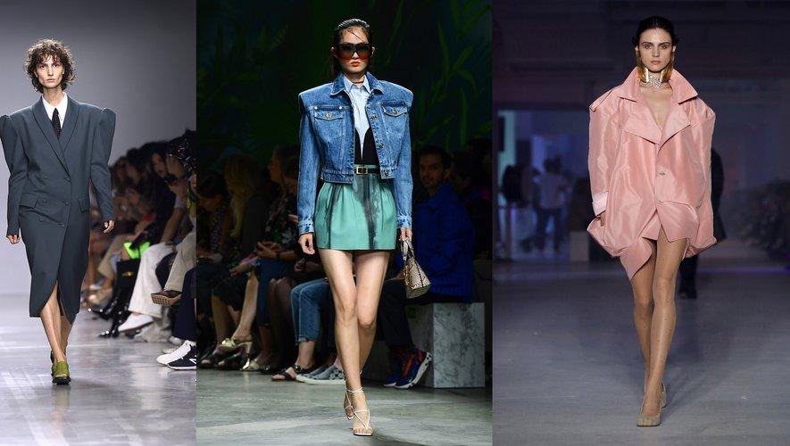 Epaules larges, par Annakiki, Versace, et Vivienne Westwood.