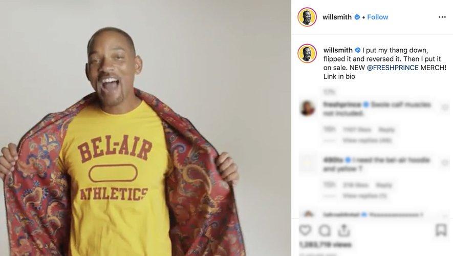 """Will Smith présente sur Instagram sa collection hommage à sa série """"Le Prince de Bel-Air"""""""