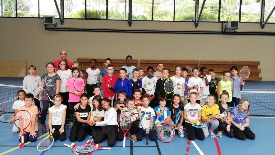 Des ateliers tennis et badminton étaient au programme.