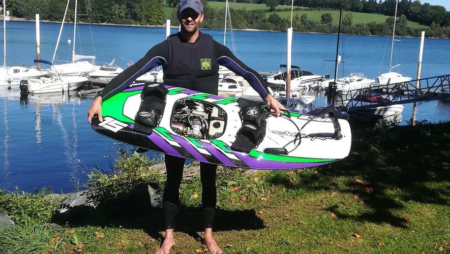 L'unique jetsurf du lac.