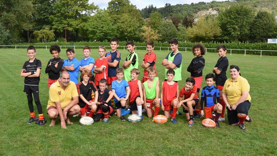 Les petits rugbymen préparent leur nouvelle saison