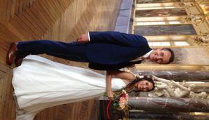 Les jeunes mariés à la mairie de Toulouse.