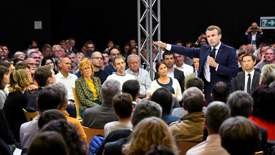 Emmanuel Macron à Rodez.