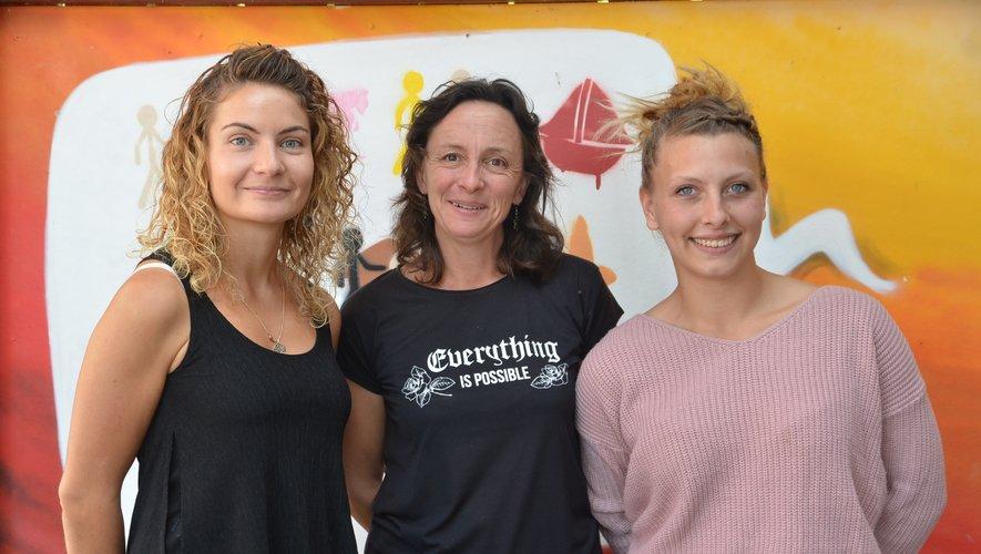 Marion Savenier, Claire Couderc et Lya Maurin (de gauche à droite)