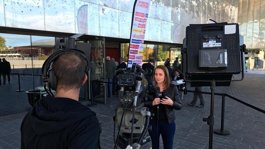 De nombreux médias nationaux étaient présents jeudi à Rodez.