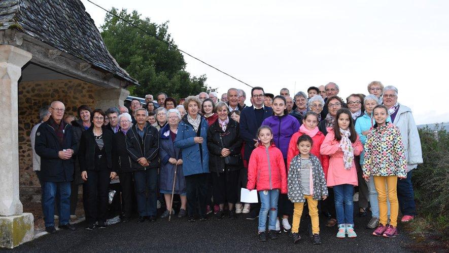 Moment de ferveur pour la messe en occitan de Calmont-d'Olt