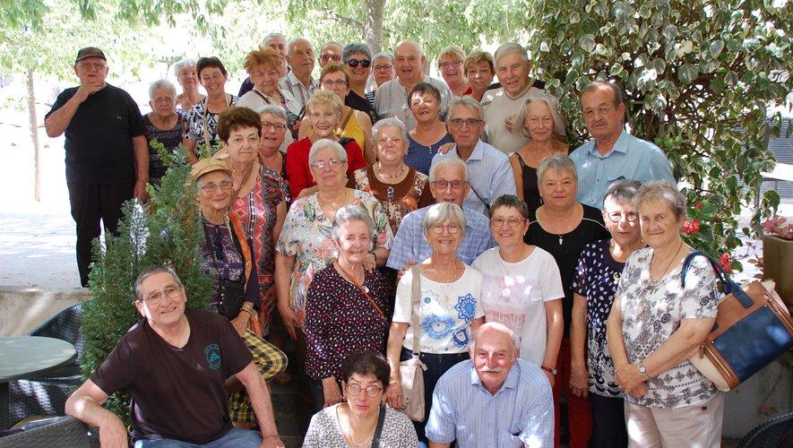 Les participants du voyage en Ardéche./Photo DDM