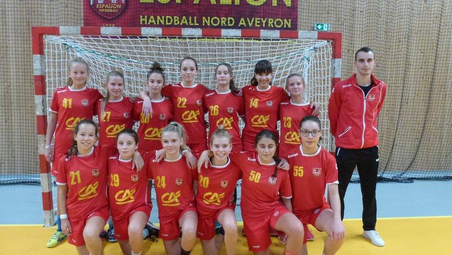 L'équipe des moins de 15 ans filles.