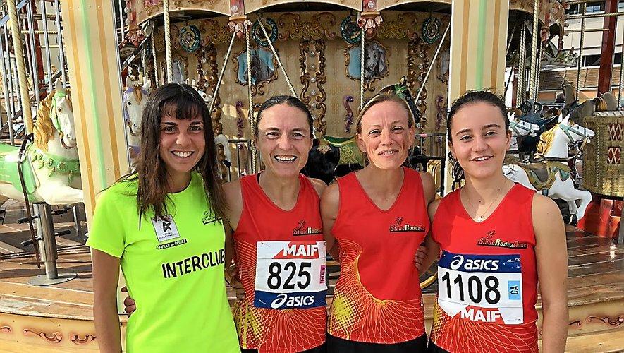 Elsa Lavaur, Sophie Mazenc, Aurélie Izard et Léna Lacomme (de gauche à droite) se sont mises en évidence à Canet-en-Roussillon.
