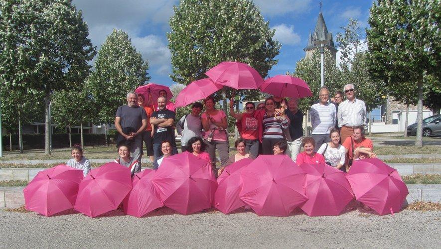 Les parapluies roses étaient déjà de sortie l'année dernière.