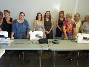 Les participantes au dernier atelier autour d'Isabelle Frayssinhes.