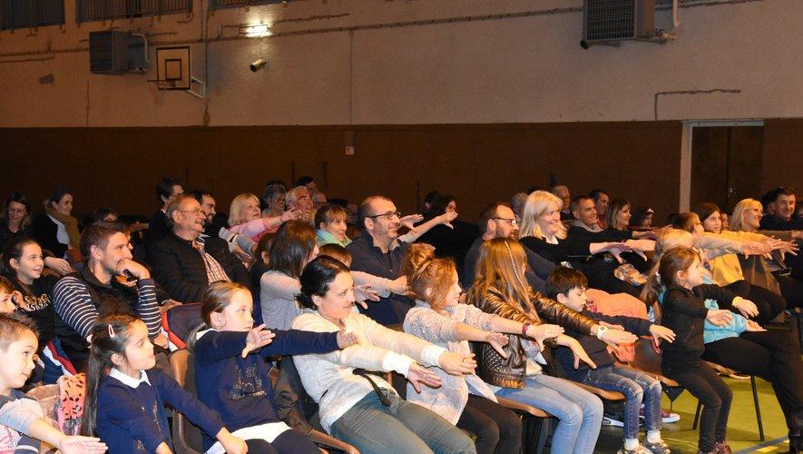 Le public s'est beaucoup amusé.