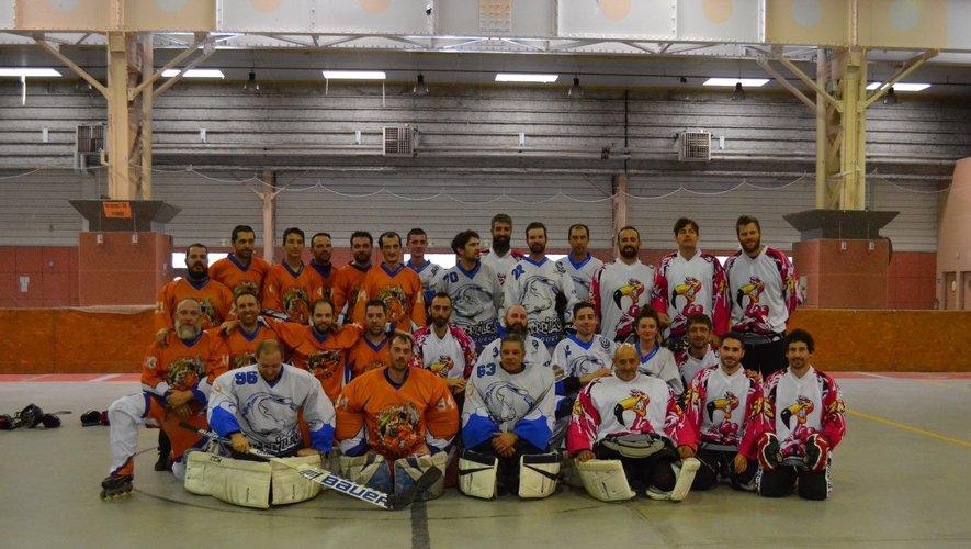 Les hockeyeurs qui ont participé au challenge du Laminoir.
