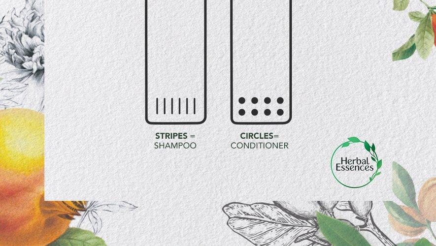 Herbal Essences généralise le packaging tactile pour les malvoyants.