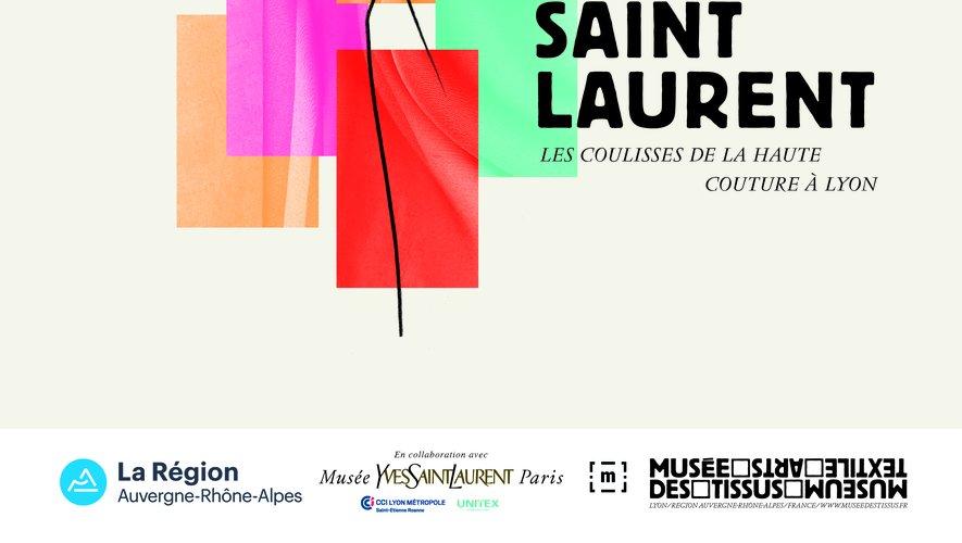 """L'exposition """"Yves Saint Laurent - Les coulisses de la haute couture à Lyon"""" se tiendra au musée des Tissus du 9 novembre 2019 au 8 mars 2020."""