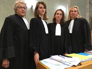Les quatre avocates de la partie civile (Me Françoise Robaglia, Me Sylvie Bros, Me Elsa Cazor, Me Laure Brunel) ont été entendues.