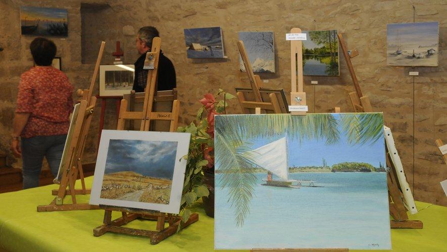 Paysages, portraits, natures mortes, créations, c'est une palette très large qui est offerte aux yeux du public.