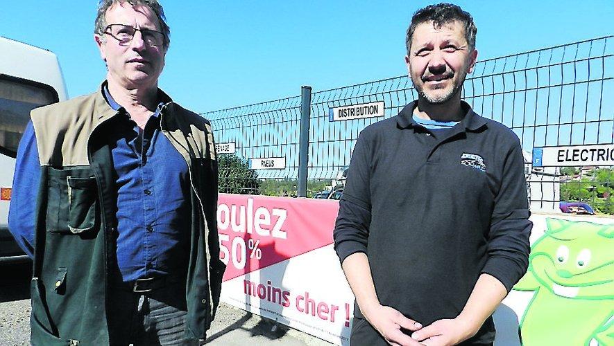 Jérôme Espinasse (à droite) et Serge Hillotte.