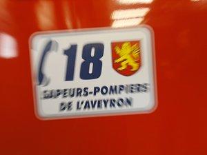 Les pompiers de Nat et de Millau sont intervenus sur cette collision.