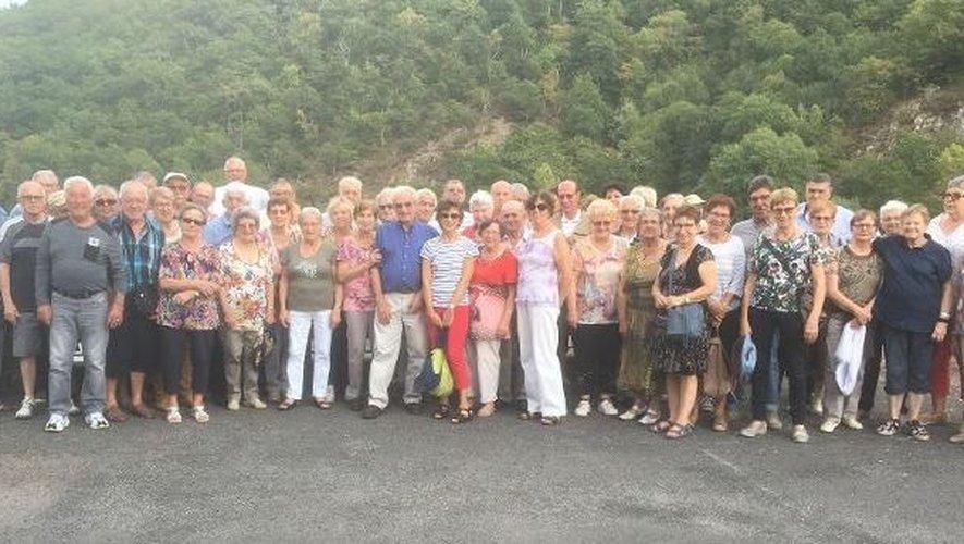 Les participants à cette escapade dans le Nord Aveyron.