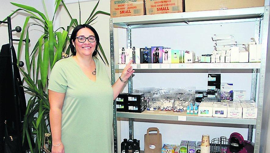 Laetitia Vivien, nouvelle commerçante à Lanuéjouls.