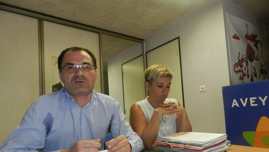 Éric Cantournet et Stéphanie Bayol.