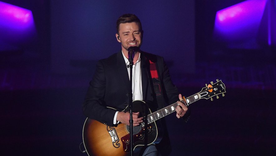 Justin Timberlake sur la scène du gala  Songwriters Hall Of Fame 2019 au New York Marriott Marquis, le 13 juin 2019 à New York