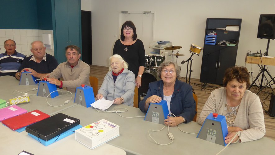 Les participants à la dernière séance, salle « Terre des hommes »à l'espace Antoine-de-Saint-Exupéry.