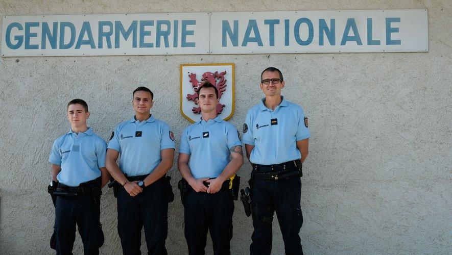 Quatre nouveaux arrivants à la gendarmerie : de gauche à droite, Nicolas Pragnon, Rami Baghdad, Benoît Aurel, Laurent Acquart.