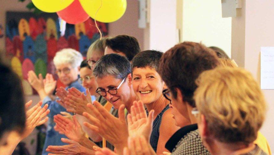 Les résidants, entourés de leur famille, ont fait la fête !