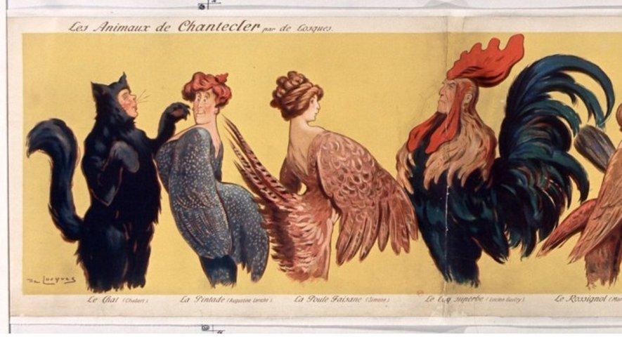 Le coq, emblème de la pièce d'Edmond Rostand.