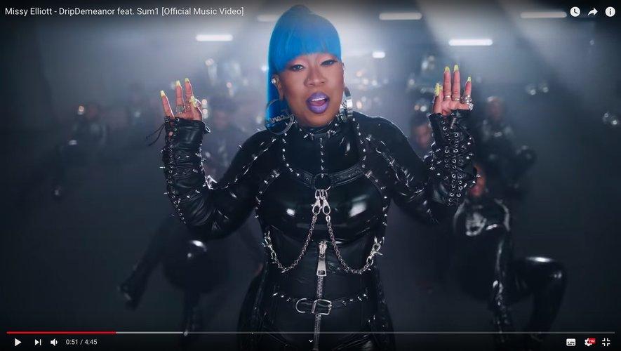 """Missy Elliott dans son nouveau clip """"DripDemeanor""""."""