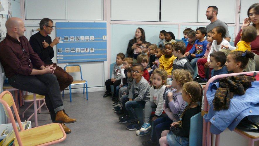 Un des groupes en atelier avec Cédric et Vincent.