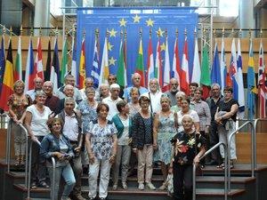 Le Parlement européen étaitau programme de la visite.