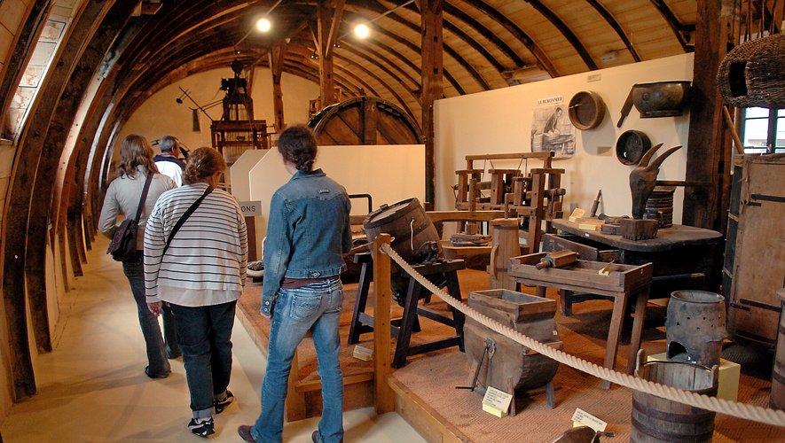 Au musée des artset métiers traditionnels  de Salles-la-Source.