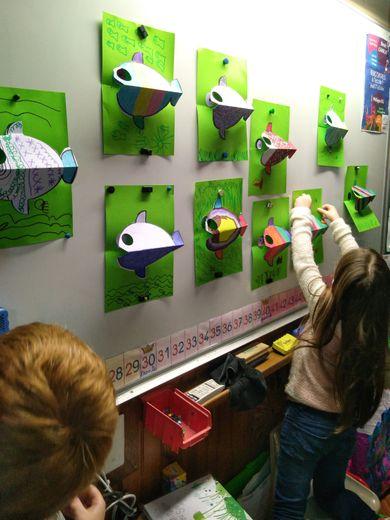Petites créations réalisées par les enfants avec Philippe UG.