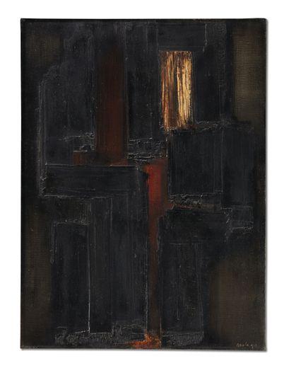 Pierre Soulages, 81x60, 17 juillet 1955.