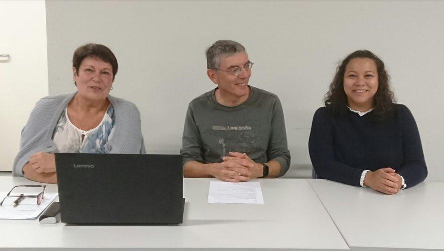 Liliane Gonzalez,Nicolas Cascalès et Isabelle Boissière.