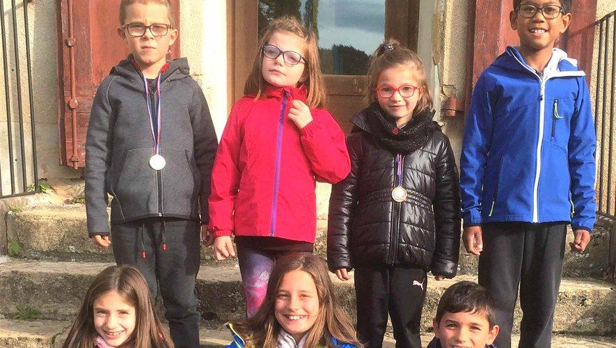 Les lauréats de l'école Ste-Marie au cross d'Espalion.