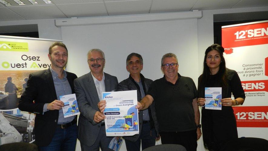 Laurent Tranier, Dominique Costes, Serge Roques, Michel Alibert et Ludivine Chatelain ont présenté le forum.